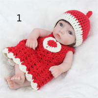 Wholesale china kid silicone doll resale online - Fashion Christmas Gift Children Dolls cm Silicone Simulation Reborn Baby Dolly Gift Girls Reborn Toys Kids Playmate Fast Shipping