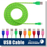 Wholesale Nylon Cable Color - Micro USB Cable S7 S6 High Speed Nylon Braided Cables Charging Sync Data Durable