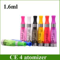 clearomizer e cigarette ego w achat en gros de-Réservoir de vapeur CE4 Atomizer eGo Clearomizer 1.6ml 2.4ohm Cigarette électronique pour batterie électronique, batterie électronique ego
