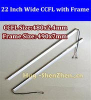 Wholesale Ccfl 22 - Wholesale-NEW 2PCS 22'' inchdual lamps CCFL with frame,LCD lamp backlight with housing,CCFL with