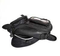 Wholesale Motorcycle Top Bags - Black Motorcycle Oil Tank Bag Magnetic Bag Motocross Magnetic Oil Fuel Tank Bag Top Waterproof Nylon Oxford