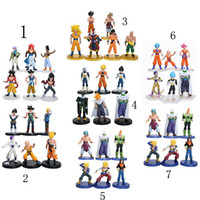 Wholesale Anime Figure Dragon Ball - 6pcs set 12cm anime Dragon Ball Z Super Saiyan Trunks vegeta Son Goku uub Kakarotto PVC Action Figure toys Christmas gift toy