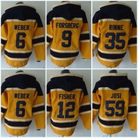 Wholesale New Style Sweatshirt - Nashville Predators #6 Shea Weber Red Hooded Sweatshirt Hockey Jackets New Style All Teams Outdoor Uniform size 48-56 free shipping