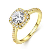 Wholesale Massive Jewelry - 1.0CT Massive Solid Romantic Womens Halo Ring Prong Round Cut Crystal Solid Jewelry size 7