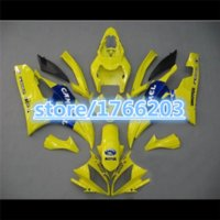 Wholesale Top Fairing R6 - 100% NEW TOP Yellow blue fairing kit for Yamaha YZF-R6 06-07 YZF R6 06 07 YZF 600 R6 2006 2007 fairing parts