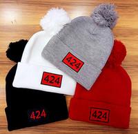 c166f12e6bc 4 colors Popular Winter Hats flanging cap hip hop Headgear knit hat wool  cap star models Christmas Beanies 424 Hats A+++++