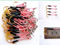 Wholesale Fishing Hooks For Sale - Hot sale metal jig hook 13# 14# gold hook for lead fish lead lure single hook free shipping