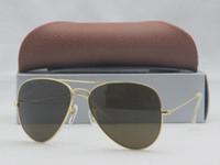 Wholesale Pink Shades Wholesale - Retail Oculos Vintage Shade sun glasses Metal Classic Retro Men's G15 Lens Sunglasses 18 COLORS