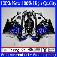 Wholesale Cbr F2 Blue - Bodys Motorcycle For HONDA Blue black CBR 600F2 FS CBR600 F2 91 92 93 94 46MY4 CBR600FS CBR 600 F2 CBR600F2 1991 1992 1993 1994 Hot Fairing
