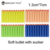 Wholesale Sucker Darts - 50 pcs foam bullets air soft paintball sucker head arme generic EVA Soft Bullet Refill Clip Darts For toys gun