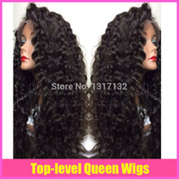 Wholesale Tangle Free Lace Wigs - 2015 new hair products Glueless Brazilian Hair Curly Lace Front Wig&Full Lace Wig Human Hair Wigs no shedding and tangle free