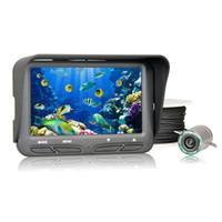 videokamera finder großhandel-720 P Unterwasser Eis Video Angeln Kamera 4,3 Zoll LCD Monitor 6 LED Nachtsicht Kamera 30 m Kabel visuelle Fish Finder wasserdicht