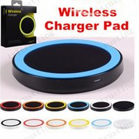 S6 Qi Wireless Charger Celular Mini Charge Pad Para dispositivo com Qi-wiki Samsung Galaxy S3 S4 S5 S6 Note2 / 3/4 Nokia HTC LG Iphone telefone MQ100
