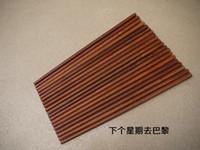 Wholesale Mahogany Chopsticks - Wholesale-Vietnam mahogany chopsticks rosewood chopsticks eco-friendly double wood cutlery