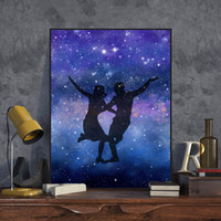 Wholesale Print Big Pictures - Watercolor La La Land Canvas A4 Art Prints Poster Oscar Lover Movie Dance Wall Pictures Modern Home Decor Big Paintings No Frame