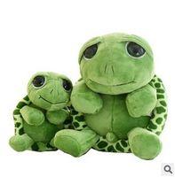 Wholesale Stuffed Turtles Big Eyes - Wholesale-Love 20cm 30cm40cm The Tortoise Big Eyes Cartoon Toy Sea Turtles Doll Pure Cotton Plush Toy Stuffed Birthday Wedding Gift TY118