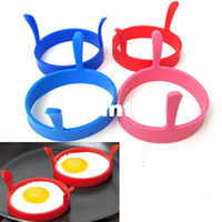 Wholesale silicone poached egg kitchen resale online - Fashion Hot Kitchen Silicone Fried Fry Frier Oven Poacher Egg Poach Pancake Ring Mould Tool