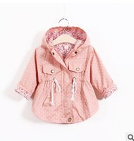 Wholesale New Girl Coats - 2016 new girls cotton wave point bat shirt jacket coat free shipping