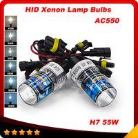 Wholesale Slim Hid Lights - Slim Ballast kit Xenon Hid Kit 55W H7 AC550 Car light source Headlight bulbs lamp 4300K 5000K 6000K 8000K 10000K 12000K