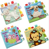 Wholesale Children Cloth Books - JJOVCE Baby math counting toys owl monkey dog Animal embroidered puzzle cloth book Education for child gift