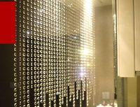 ingrosso decorazione della tenda dei branelli di cristallo-Cristallo Prisma Perline Ornamento Appeso Cristallo Ottagonale Perlina Tenda Ghirlande Fili FAI DA TE Decorazione Del Partito Decorazione di Cerimonia Nuziale 10 m / lotto