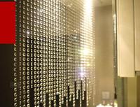 grânulo de cristal guirlanda venda por atacado-Prisma de cristal Beading Pendurado Ornamento De Cristal Octagonal Bead Cortina Garland Strands DIY Craft Decoração Do Casamento Do Partido 10 m / lote