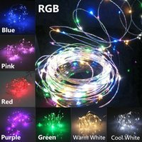 Wholesale Outdoor Fairy Lights Battery Power - AA Battery Power Operated LED Copper Silver Wire Fairy Lights String 5M 50led Christmas Xmas Home Party Bike Decoration Seed Lamp Outdoor