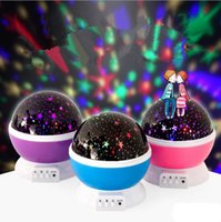 DHL Star Master Rotazione LED Grow Night Light up Moon Star Proiettore Rotation Night con USB per bambini Camera da letto per bambini Regali di Natale