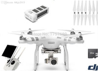Wholesale Advanced Electric Motors - Wholesale-2015 Newest DJI Phantom 3 Advanced FPV airplane Drone with 1080P HD 1 Battery inside remote control EMS DHL shipping