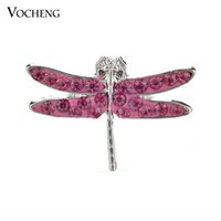 Wholesale Brand Design Jewelry - Noosa Snap Jewelry Brand Design Dragonfly Snap Button Interchangeable Crystal Ginger Snap Button for DIY (Vn-727)