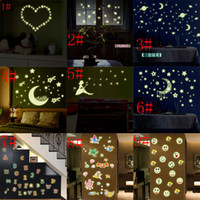Wholesale Black Star Stickers Small - Eco-friendly PVC Fluorescent Luminous Wall Sticker Glow in the Dark Stars Decorative Wall Decal for Kids Rooms Decoration Wall Art