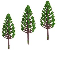 Wholesale Best Price Plastic Models - Best Price 20pcs Set 68mm Plastic Model Trees For Railroad House Park Street Layout Green landscape Scene Scenery High Quality