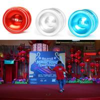Wholesale T6 Yoyo - Professional YOYO Magic Yo-yo T6 Aluminum Yo-Yo Ball toy birthday gift Magic Yo-yo ball