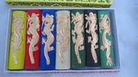 Wholesale Asia old colours Carved dragon chinese solid calligraphy Painting ink stick