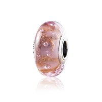 handmade lampwork professions hobbies red 925 silver fashion diy handmade blue pink bubble glass beads colored glaze bracelet beads elegant free shipping