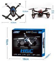 Wholesale Headless CF Mode JJRC H6C G CH Quadcopter RTF with MP HD Camera LCD Transmitter VS Hubsan x4 H107C X5C Drone