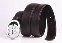Wholesale Popular Belt Brands - Men Belt Brand Fashion Smooth Buckle Men's Designer Belts Casual Popular Cow Split Leather Mens Belts Luxury