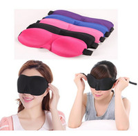 Wholesale Eyes Mask 3d - Portable 3D eye Sleeping Mask cotton Blindfold Soft Eye Shade Nap Cover Blindfold Sleeping Travel Rest Vision Care 5 colors