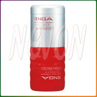 Wholesale Tenga Toc - Free Shipping,TENGA TOC-104 Double Hole Cup,Simulated Vaginal,Sex Cup,Masturbators,Soft Balsam,Sex Toys For Man