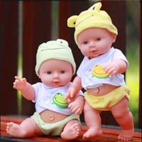 Wholesale Reborn Kits - Vinyl Silicone Reborn Doll 11'' Full Vinyl Silicone Reborn Baby Doll Boy Handmade Soft Lifelike Toys Kids Reborn Baby Doll Kits