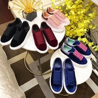 Wholesale Plat White - New style Hot Sale Plat Shoes black red suede Casual Leather Men or Women 35-44size Sport Running thick bottom Sneaker genuine Leather Shoes