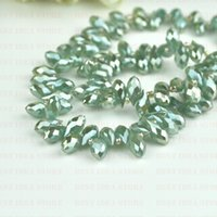 Цена продажи! 100pcs 6x12mm Mint Green Plating Briolette Pendants Waterdrop Crystal Glass Jewelry Loose Teardrop Beads DIY