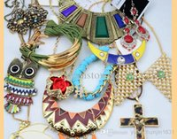 Wholesale Sapphire Yellow Gold Cheap - Wholesale -2016 Jewelry Europe Style Necklaces Bracelets Earrings Rings Multi Cheap Jewelry Sets Statement Necklace 500g Free Shipping