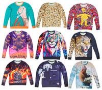 Wholesale Army Crewneck Sweatshirt - Hot Women Men Sweatshirt Unisex Sweater 3D Novel Digital Print Long Sleeve Crewneck Pullovers T-shirt Tops Sportwear Casual Shirt #W001-W021