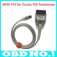 Wholesale Toyota J2534 Cable - 2015 Latest MINI VCI for Toyota TIS Techstream V10.00.028 Single Cable MINI VCI for Toyota J2534 Diagnostic Tool Free Shipping