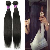 Wholesale cheap brazilian hair online - Brazilian Straight Virgin Hair Wefts Bundles Natural Black Unprocessed Brazilian Straight Human Hair Extensions Cheap Brazilian Hair