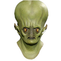 Halloween Mask Giant Alien Hood UFO Headset Sci-Fi Movie Theme Mask cos horror ghost face Латексная маска