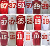 Hombres 10 Tyreek Hill 11 <b>Alex Smith</b> 19 Jeremy Maclin 25 Jamaal Charles 27 Kareem Hunt 50 Justin Houston 87 Travis Kelce Jersey