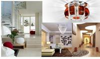 yatak odası spotları toptan satış-Güzel kabak kristal ışık 3 w yatak odası led Kristal tavan lambaları oturma odası spot koridor ışıkları avize aydınlatma ac.110v-250v