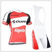 Wholesale Bicyle Shorts - 2015 Newest Giant Team Summer Cool Fashion Sportwear Cycling Jersey Sets Bib Bike Shorts Bicyle Clothing Close-fitting Road Bike Clothing